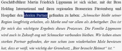 Lippmann: BHI idealer Partner