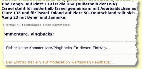 trossmann feedback moderation