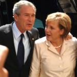 Odenwälder Pressefotograf Hörnlein bekommt US-Präsident Bush und Kanzlerin Merkel vor die Linse – als turtelndes Pärchen