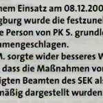 """Polizeilicher Übergriff aber kein """"disziplinarrechtlicher Überhang"""" : Wie Josef Hoss Gesundheit und Recht geraubt wurde"""