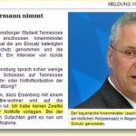 Frohe Weihnachten: Wie Bayerns Innenminister Joachim Herrmann an die Eltern des von 12 Polizeikugeln getöteten Studenten Tennessee Eisenberg denkt