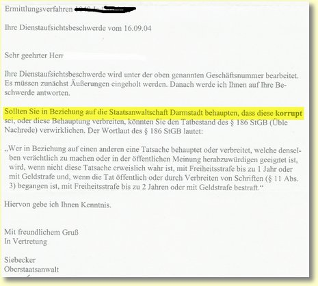 Staatsanwaltschaft Darmstadt korrupt?