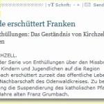 Von Sünde erschüttert: Missbrauchskandal in der Redaktion des Odenwälder Echo angekommen