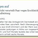 In Darmstadt verurteilt: Rechtsanwalt und Redakteurin erschleichen 125 000 Euro Sozialleistungen